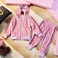 2018 Girls set Kids thickening Casual Sportswear Baby Girls ...