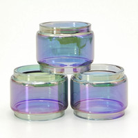 Tubo de vidrio Pyrex de bulbo de reemplazo de arco iris 8ML para TFV12 Prince TFV12 Baby Prince Atomizer Tank