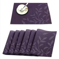 Tovagliette in PVC, tappetino lavabile in vinile per tovagliette Tappetino in feltro per tavolo da pranzo Tovagliette resistenti alle alte temperature