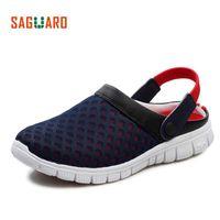 Сагуаро летние мужчины тапочки обувь 2018 Мода сетки тапочки унисекс пляж сандалии случайные плоские скольжения на шлепанцы zapatos hombre