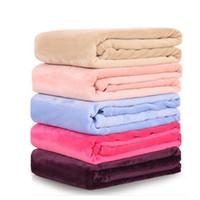 Super Soft Microplush Bettdecke Gedruckt Fuzzy Fleece Solide Reine Farbe Decke Plaids Tagesdecken werfen für Bett Baby Geschenk