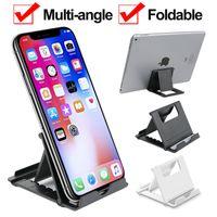 Support de support de bureau pliable multi-angle réglable pour les supports de bureau de tablette de téléphone cellulaire