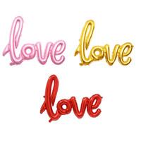 Ligatures AMORE Lettera Stagnola Palloncino Anniversario Matrimonio San Valentino Decorazione Palloncino Colori rosso Champagne Colori Spedizione gratuita