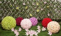 Fiore di seta per i fiori artificiali decorativi di nozze Fiori falsi che baciano la palla Rose Balls per il partito decorativo