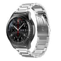 Banda de reloj de banda de reloj de 22 mm de reloj de acero inoxidable para Samsung Gear S3 Classic Strap Pin de liberación rápida