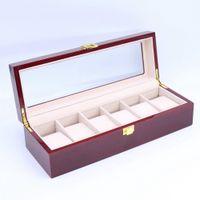Haute qualité 6 Machines à sous bois Voir Présentoir Montres Boîte à bijoux élégante RANGEZ caixa par relogio