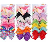 6pcs set 5. 6 inch flower printed bow hairclips for baby girl...