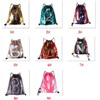 1pc Mermaid Sequin Drawstring Backpack Outdoor Sports Glitte...