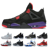 nike Air jordan retro 4 shoes Travis Houston azul 4 Raptors 4s Hombre Zapatillas de baloncesto Pure Money Black Cat cemento blanco Bred Fire red Fear Zapatillas deportivas alternativas 7-13