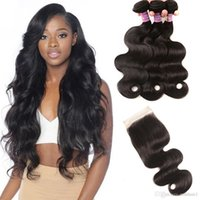 Peruvian Virgin Hair Body Wave 3 Bundles With Free Part Lace...