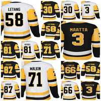 Maillot de hockey championne 2018 Pittsburgh Men Lady Kids Lemieux Matt Murray Sidney Crosby Phil Kessel Kris Letang Evgeni Malkin