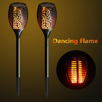 Solar Garden Torch Lights 96 LED Dancing Flame Lighting Outd...