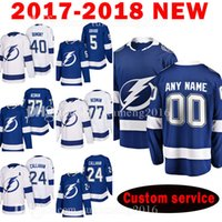 Tampa Bay Lightning Personalizado 2018 homens 77 Victor Hedman 24 Ryan Callahan Jersey 40 Gabriel Dumont 5 Dan Girardi Jerseys