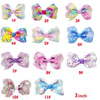 Jojo Siwa hair bows Jojo bows With Clip 3 Inch For Baby Chil...