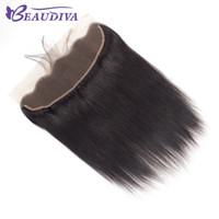 بيرو مستقيم الشعر الأذن إلى الأذن الرباط أمامي 13x4 إغلاق جزء الحرة 130٪ القدر 10-18 بوصة اللون الطبيعي ريمي شعرة الإنسان