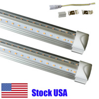 8FT LED 조명 V 모양 통합 T8 LED 튜브 4 5 6 8 FT 쿨러 도어 냉장고 LED 조명 더블 행 공장 고정 장치