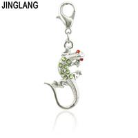 Jinglang Vintage Aleación Metal Medieval Gecko Encanto Conector Pulsera Collar Conozca Hallazgos