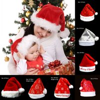 Christmas Hats Adult Kids Christmas Hats Cute Santa Claus Sn...