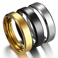 Großhandel neue mode edelstahl dreifarbige glänzende männer ring titanium stahl ring für männer hochzeit ring schmuck freies verschiffen