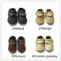 Free shipping one lot baby plain color moccasin shoes handma...