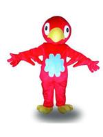 2019 alta calidad caliente grande hermoso pájaro rojo disfraces de dibujos animados traje de mascota de animales adultos envío gratis