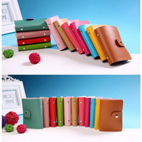 24 Card Slots Unisex Card Holder PU Leather Bank Credit Case...