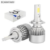 100PCs bil LED-strålkastare Lampor H3 H7 9005 9006 H11 6000K Automobiles Höjdlampor Byt halogen HID-strålkastare dimlampor
