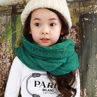 New winter Boys and girls fashion knitted warm scarves color...