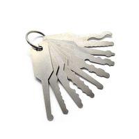 Conjunto de 10 peças Jiggler Keys são feitas de aço inoxidável temperado abrindo seu veículo