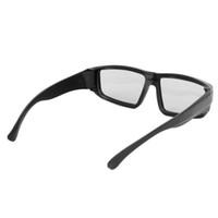 Preto estereofónico polarizado circular preto H4 dos vidros 3D para os cinemas reais L15 da tevê D 3D