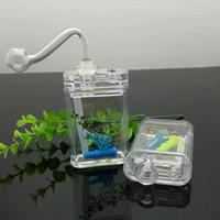La nouvelle lumière avec des paquets de cigarettes Narguilé acrylique mini narguilé, bongs en verre, pipe à eau en verre, pipe à fumer