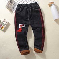 Children' s Trousers Winter Thickening Boy Cotton Plus V...