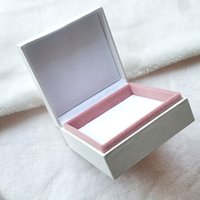 White Square 9cm * 9cm Jewelry Display Packing boxes For Pan...