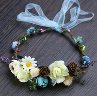 Guirnalda de colores calientes, accesorios de tiro, accesorios de sombreros de paja, accesorios de vestir para niños, sombreros de flores