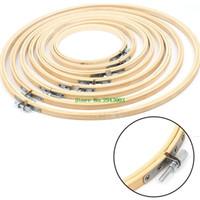8 Größen 13-34 cm Bambus Holz Kreuzstich Maschine Stickerei Hoop Ring Sewing Craft DIY Kreuzstich Needlecraft Werkzeuge # 081925 #