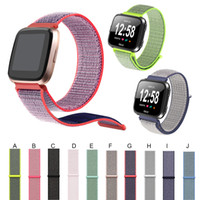 Magic Sticker Woven Nylon For Fitbit Versa Bands Woven Nylon...