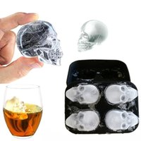 skull ice cube mold 3D silicon ice tray whiskey cocktail bal...