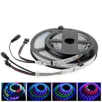 6803 IC SMD 5050 RGB LED tira Sueño mágico de color 12V CC 30LED / M IP67 a prueba de agua / No impermeable Cinta flexible 5M