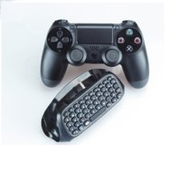 Mini teclado para PS4 Game Controller Gamepad Joystick Message Bluetooth Wireless Keyboard Chatpad Keypad con paquete