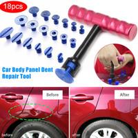 جديد المهنية 18 قطع t- بار سيارة الجسم لوحة paintless dent إزالة إصلاح أداة رافع + مجتذب علامات السيارات موتو إزالة الضرر شحن مجاني