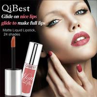 أحدث Qibest أحمر الشفاه ملمع شفاه السائل الساحر Glide على شفاه لطيفة وقت طويل ترطيب 24 ألوان