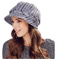 6531b0e507b Wholesale kenmont hats online - Kenmont Autumn Winter Women Beret Hat  Elegant Ladies Sports Visor Cap