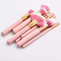 Lo nuevo de pinceles de maquillaje Definición de los colores rosa 4/10 herramientas cepillo cepillos cosméticos profesionales para sombra de ojos rotulador envío de la gota de rubor