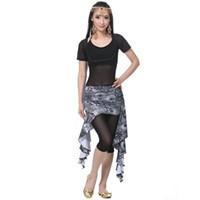 Costume da ballo di danza del ventre Set 4 pezzi Top, reggiseno, pantaloni, set di costumi di danza del ventre per donne