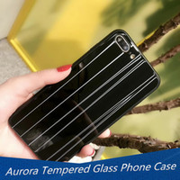 Aurora Tempered Glass Mobile Phone Shell for iphone X Fashio...