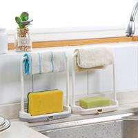 1 PCS Torchon Support de rangement éponge drain rack Rag Torchon Suspendre Porte-bagages de bain de savon Porte-évier de bureau Organiseur