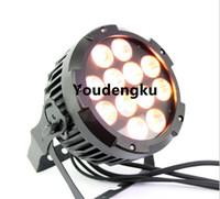 8 stücke LED DJ beleuchtung RGBWA 5in1 outdoor bühne par64 uplight 12 * 15 Watt wasserdichte led flache par rgbwa