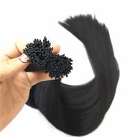 Vorgebundenes brasilianisches Menschenhaar Ich tippe in Haarverlängerungen 200g 200Strands 14 16 18 20 22 Zoll indische Haarprodukte