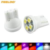 FEELDO 10PCS 높은 전원 1210 / 3528-4SMD T10 / W5W / 194 / 168 자동차 LED 전구 7 색 # 2778