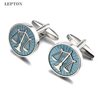 Hot Sale Libra Scales Cufflinks Lepton Stainless Steel Round...